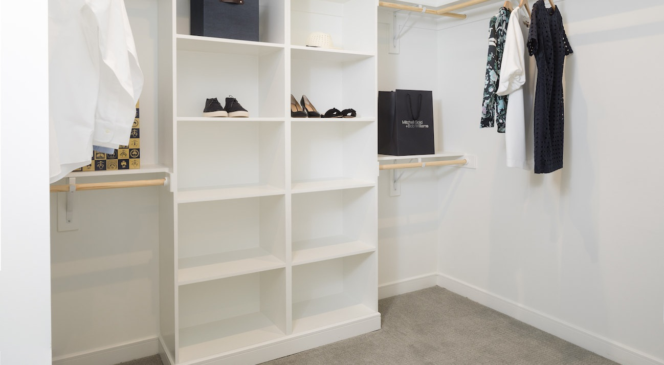 Spacious Built- In Closets
